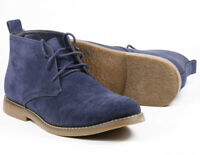 """Blue Men's Lace Up Casual Fashion Ankle Chukka Boots """" PREOWNED """""""