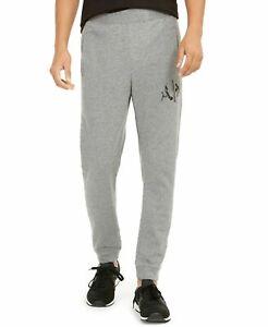 A X Armani Exchange Men's Fleece Logo Joggers Gray L