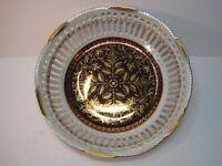 "Golden Fantasy Ohashi China Nagoya 1932 Lusterware Pierced Bowl Gold Accent 8"" D"