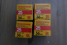 4 Rolls x Kodachrome 25 35mm KM 135-36 Colour Slide film Expired 1990