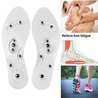 Pair of Therapy Insoles Flexible Clear Magnetic Cuttable Inserts for Foot Health