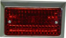 Marker, Bumper Light Red Lens Flat Rectangle Type