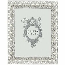 "Olivia Riegel Pegeen 8"" x 10"" Picture Photo Frame Swarovski crystals/pearls"