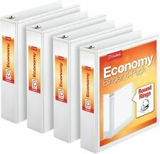 Cardinal Economy 3 Ring Binder 2 Inch Presentation View White Holds 475 S