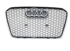 New Genuine AUDI RS5 (2010-2016) Front Bumper Radiator Grill Glossy Black OEM