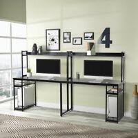 94'' Sturdy 2 Person Computer Desk Wood Double Workstation Desk CPU Stand Shelf
