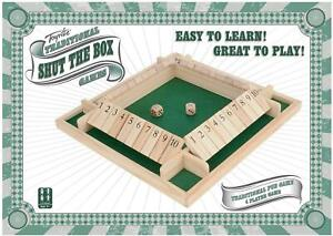 Toyrific Traditional Wooden 4 Player Shut The Box Family Fun Game