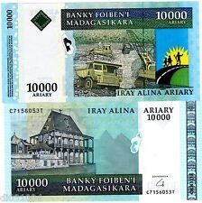 MADAGASCAR Billet 10000 FRANCS ND ( 2008 - 2009 ) P92b NEUF UNC