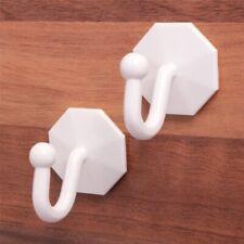 Pack of 2 White Curtain Tie Back Hooks Self Adhesive Sticky Tassel Holders Stick