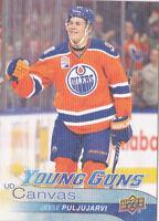 16-17 Upper Deck Jesse Puljujarvi UD Canvas Young Guns Rookie Oilers 2016