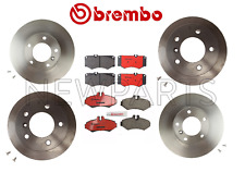 Set of Front and Rear Disc Brake Rotors with Pads Kit Brembo For MB W210 W463