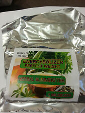 ENERGYBOLIZER PERFECT WEIGHT HERBAL SLIMMING TEA AND ORANGE GEL CAPS - TWO ITEMS