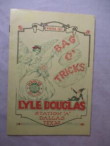 NICE! 1923 LYLE DOUGLAS Dallas MAGIC Catalog BAG O' TRICKS w/ Order Form # 1949