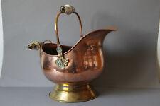 Blumentopf Übertopf  Kupfer Messing Keramikgriffe 021839
