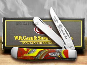 Case xx Mini Trapper Knife Fire In The Box Genuine Corelon 1/500 Pocket 9207FIB