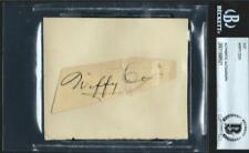 Wiffy Cox (d.1969) Signed 3x5 Index Card Autograph BAS 9x PGA Tour Champion GOLF