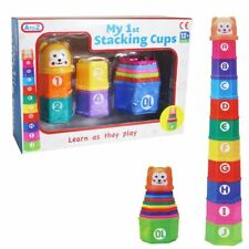 Baby Educational Toys - My 1st Stacking Cups - Age 12 Months + Alphabet numbers