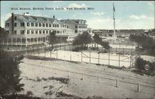 West Harwich Cape Cod MA Hotel Belmont Tennis Courts c1910 Postcard