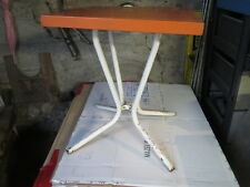 Antique Small Table bar Metal Orange Vintage French Antique Table