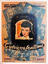 SYLVIE & le FANTÔME-1946-C.AUTANT-LARA-Affiche ENTOILEE -Linen backed-60 x 80 cm