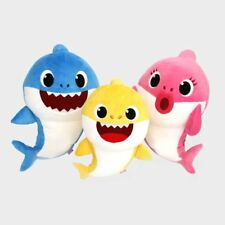 Pinkfong SHARK FAMILY Sound Dolls MOM DAD BABY 3 Songs 3000 plays Polyester 36M+