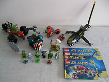 Lego Atlantis 8057,8058,8059 & 7978 Incl 6 Figures & Instructions. Discontinued