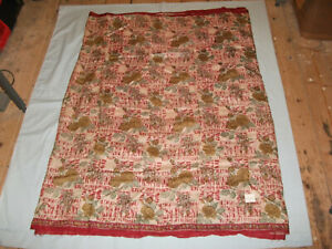 Silk offcut from genuine vintage Indian sari, almost a yard