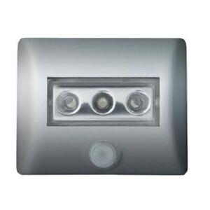 Osram Nightlux Leuchte Nachtlicht silber mit Sensor, magnetisch, incl Batterien