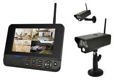 COMAG Funk Überwachungskamera Videoüberwachung Set 2 Outdoor Kamera + 1 Monitor