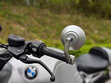 CNC Silver Bar End mirrors BMW r ninet r nine t genuine quality pair HJR Product