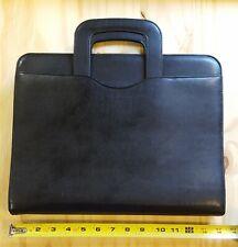 "DAY-TIMER Portfolio Planner Organizer~Attaché Case~Black Faux Leather~14""×11"""