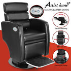 Pro Black Electric Lift Recline Barber Chair All Purpose SalonBeauty 360°Styling