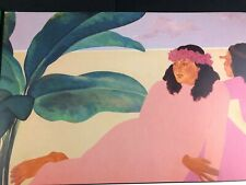 Pegge Hopper Offset Lithograph on Paper Hawaiian Woman