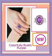 Paparazzi jewelry ring Purple ☆ (New) Colorfully Rustic