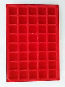 Lots de 10 plateau plateaux feutrine rouge carré sans couvercle