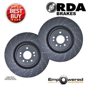 DRILLED RDA REAR BRAKE ROTORS for Mercedes-Benz W204 AMG C63 2008-2015 RDA8456