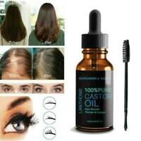 Pure Organic Castor Oil for Eyelashes Eyebrows Hair Growth Oil Body Care New