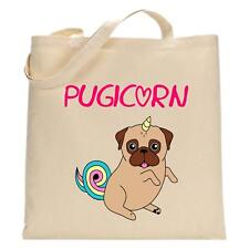 Pugicorn - Tote Bag - Funny Shopping Bag - Pug Dog Lover - Unicorn Gift