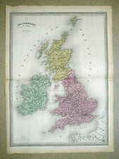 ÎLES BRITANNIQUES Gde carte 1860 in-plano 82 x 60 cm - Dressée par A. H. DUFOUR