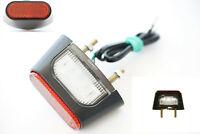 1x LED Kennzeichenbeleuchtung Mit Reflektor Für Motorrad Quad Roller Anhänger