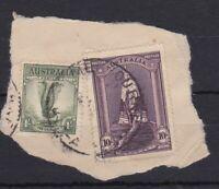 APD365) Australia 1948 10/- Robes thin paper and 1/- Lyrebird