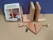 Heart Bookends Craft Kit Better Homes and Gardens #6163 1994 Ready to Paint