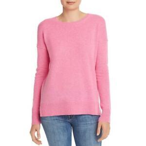 Aqua Womens Pink Cashmere Hi-Low Crewneck Pullover Sweater Top XL BHFO 6938