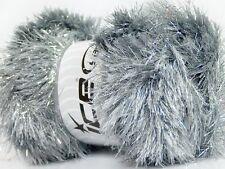 Large 100gr Silver Gray Eyelash Dazzle 35800 / 42255  Ice Metallic Eyelash Yarn