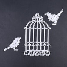 DIY Bird Cage Dies Metal Cutting Stencil For Scrapbooking Paper Cards Gift Decor