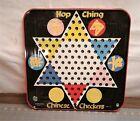 Vintage Hop Ching Metal Tin Chinese Checkers Game Pressman Toy Art