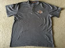 Harley Davidson Quarter Button Embroidered T-shirt XL Mens Motorcycle Mankato MN