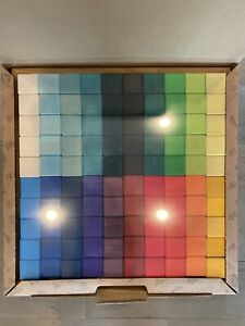 Grimms Large Mosaic Blocks NIB 100 Pieces