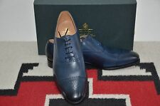 Crockett & Jones Made in England Malton Blue Burnish Leather Dress Shoes