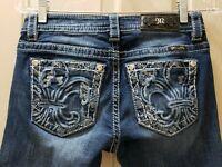 Miss Me Mid-Rise Boot Distressed Denim Jeans. Size 26 Rise 7.5  Waist 28X32L...